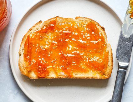 Homemade Orange Marmalade, on toast