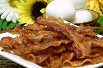 Bacon on a plate