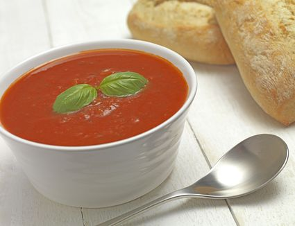 Easy Chilled Tomato Basil Soup Recipe