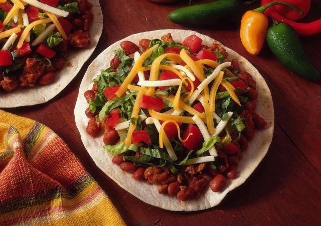 Ground beef tostadas