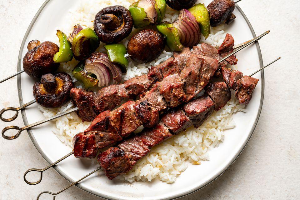 Middle Eastern Beef Shish Kebab Recipe