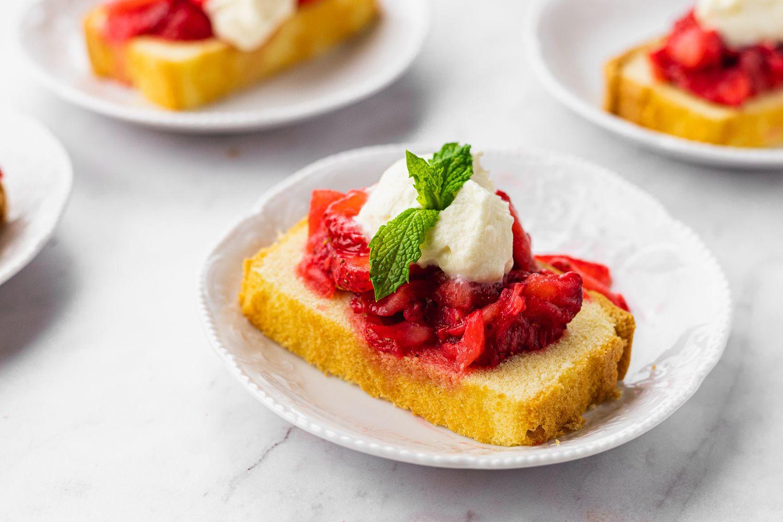 Strawberry Shortcake Made With Pound Cake