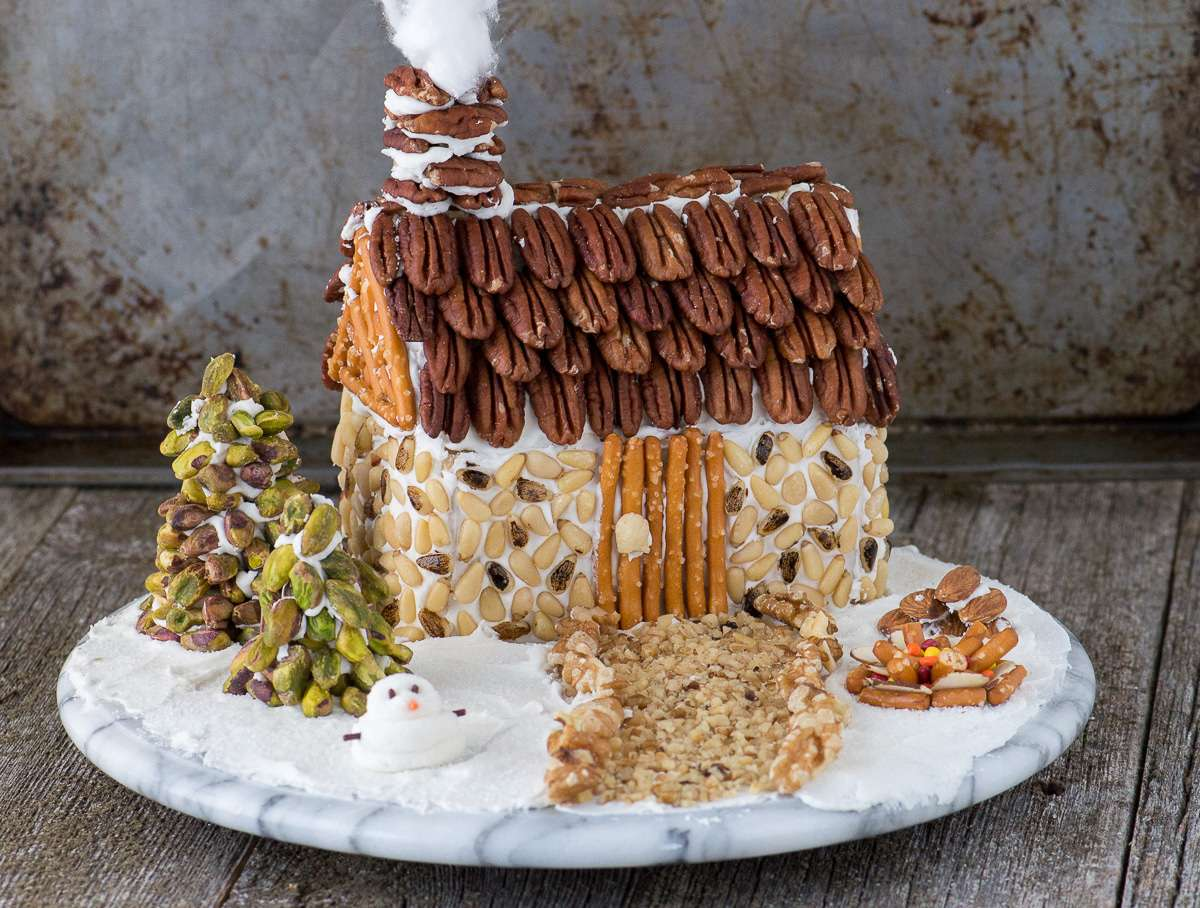 nutty gingerbread house from the first year
