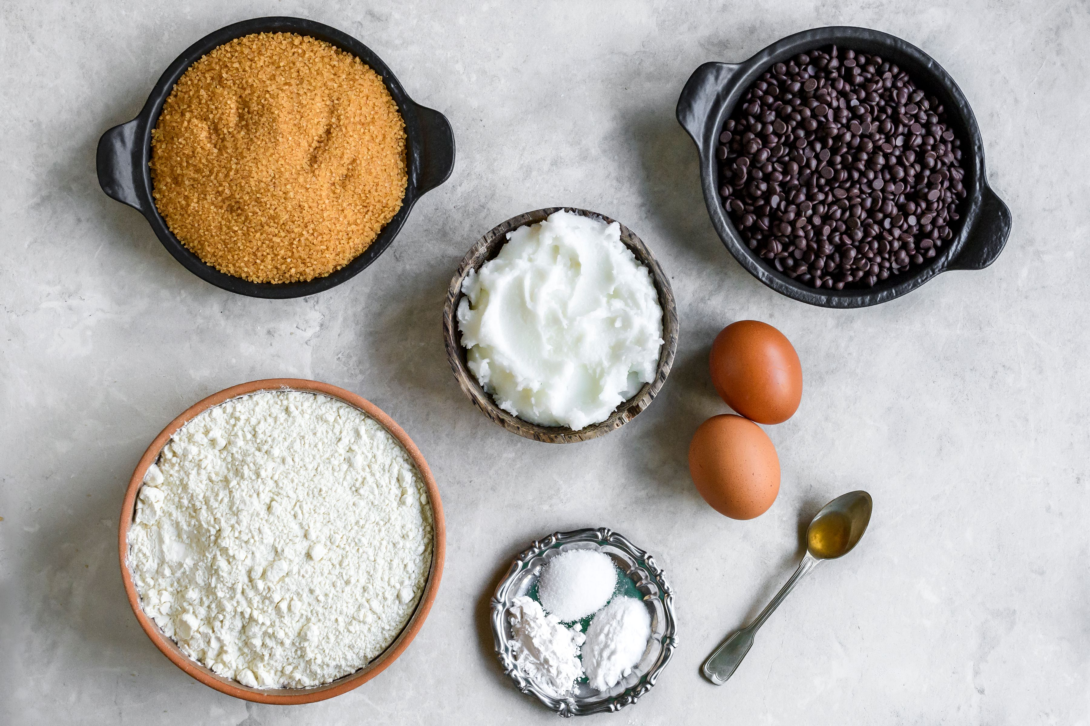 Ingredients for dairy free chocolate chips