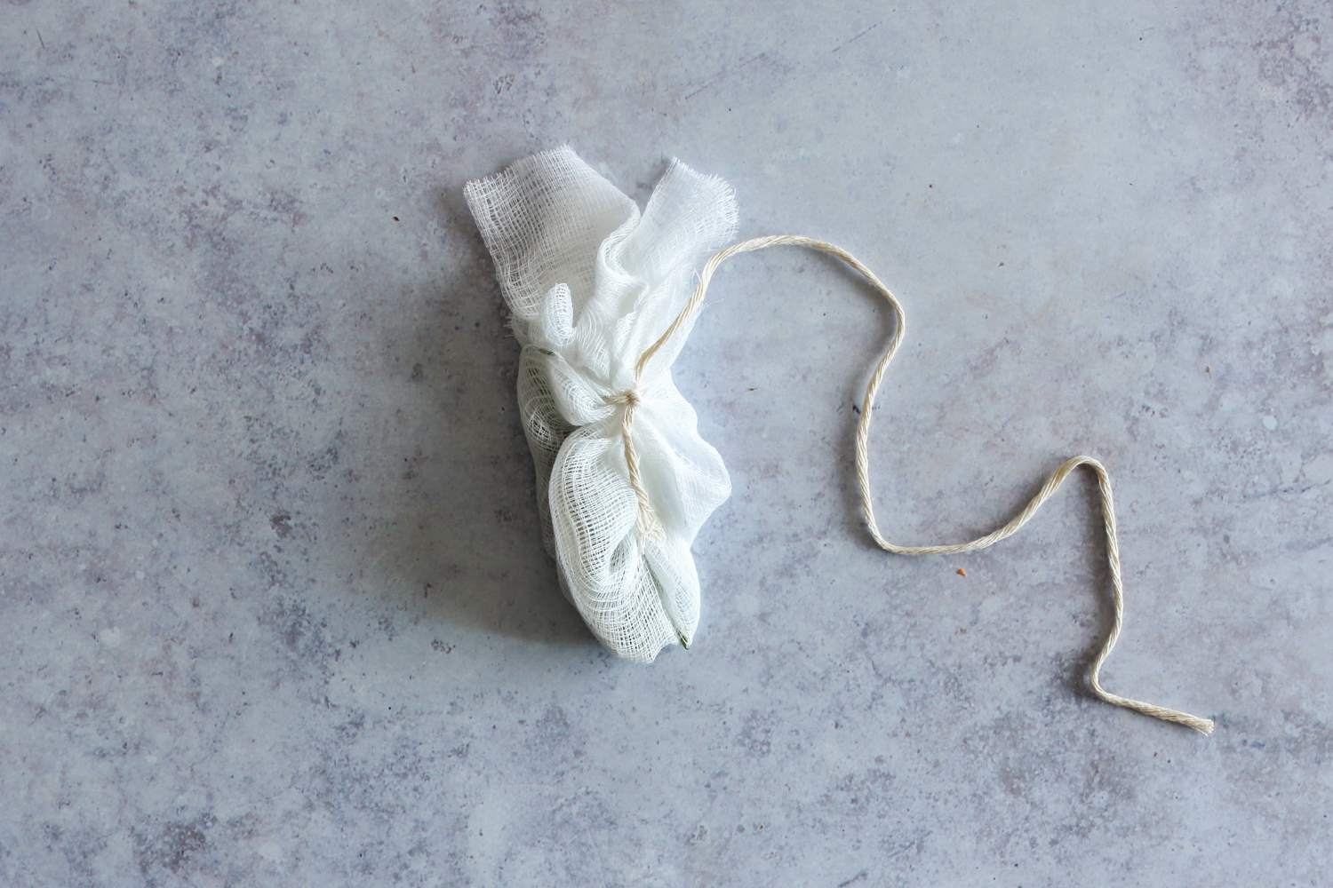 Spice sachet tied with string