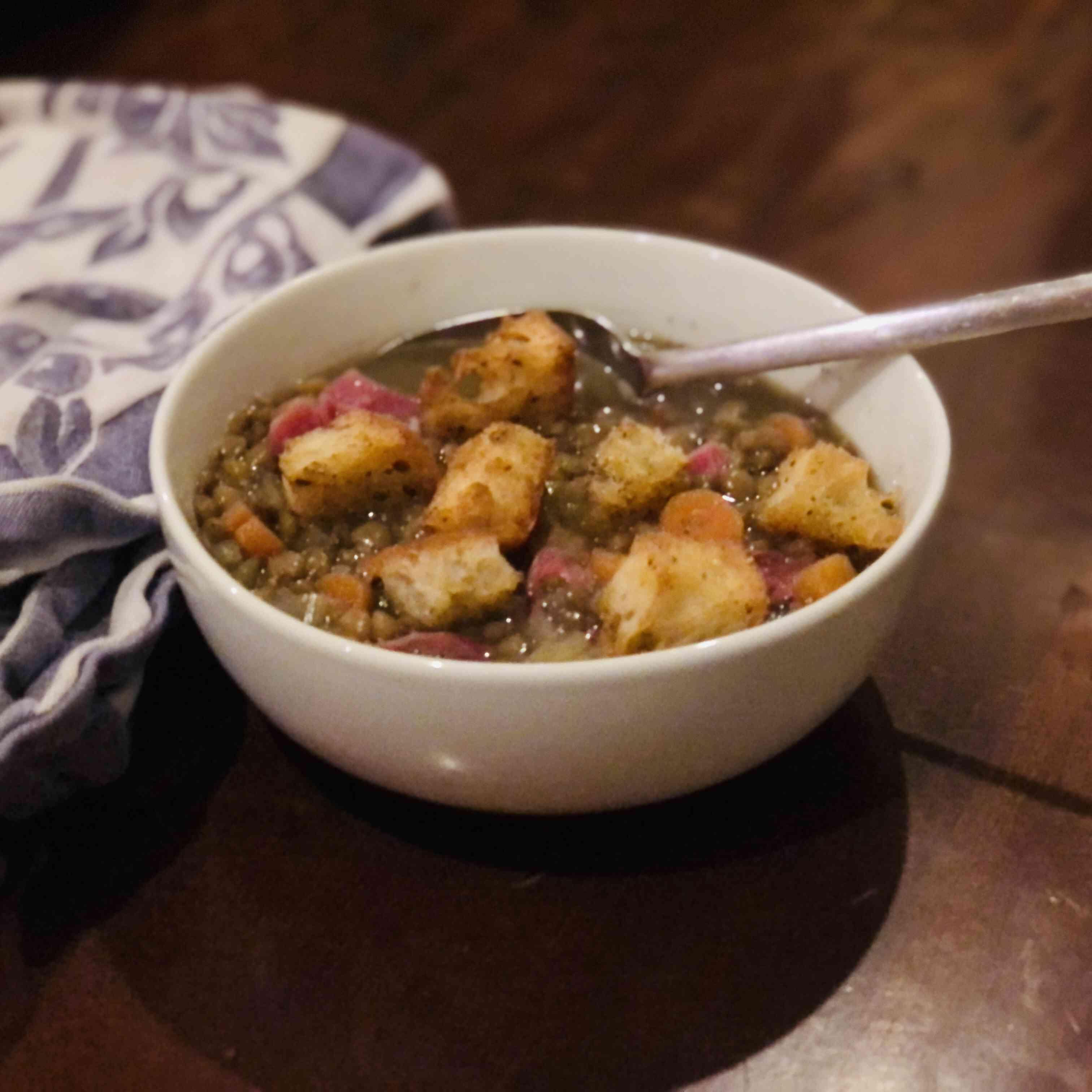 Lentil Soup with Ham Tester Image