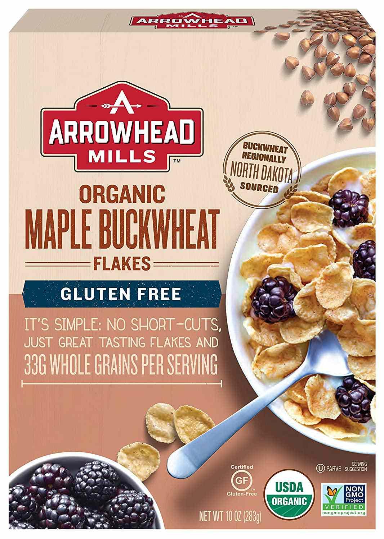 Arrowhead Mills Organic Gluten-Free Maple Buckwheat Flakes (Pack of 6)