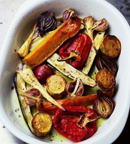 Roasted Vegetables on a platter