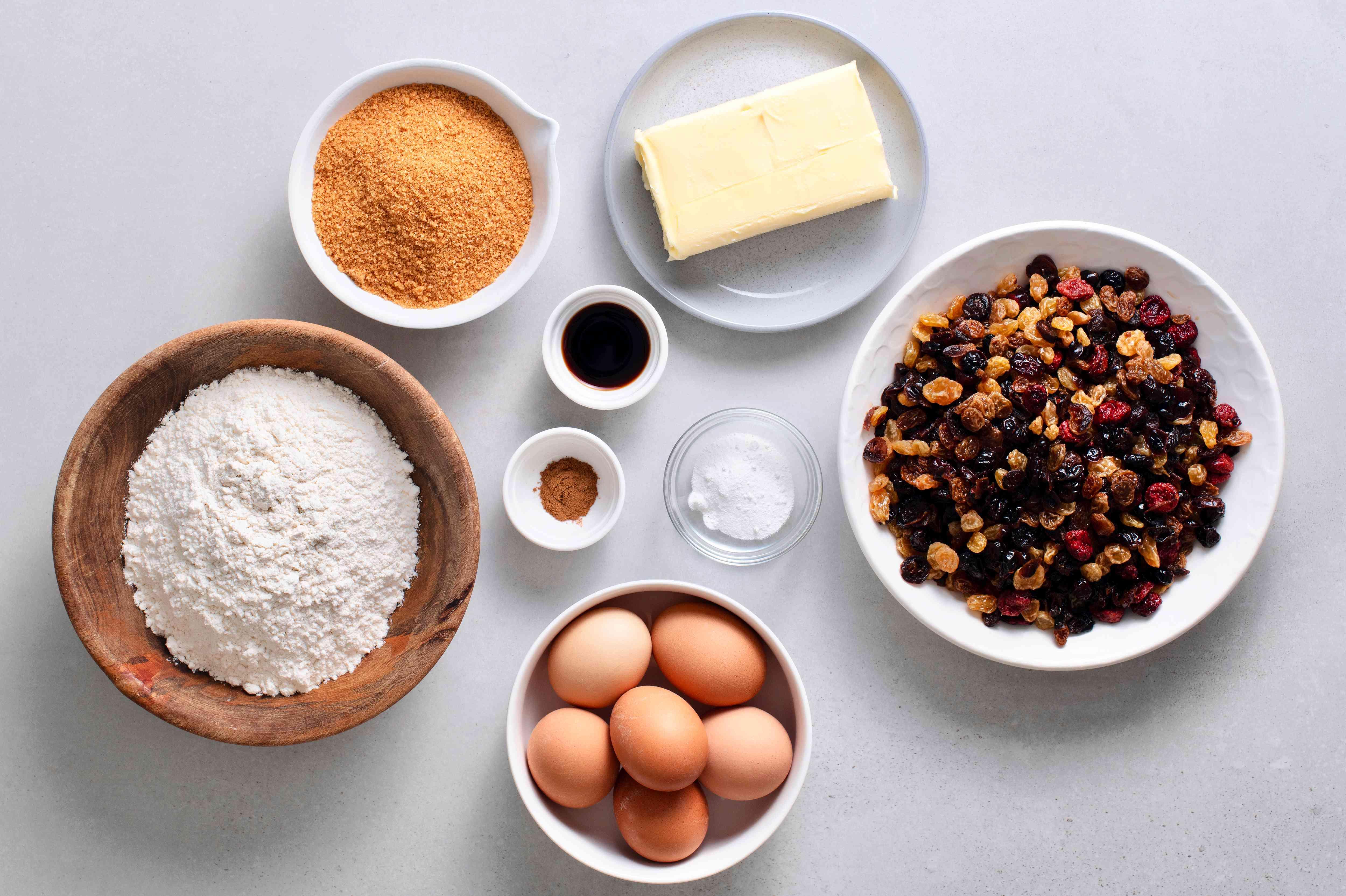 Christmas cake ingredients