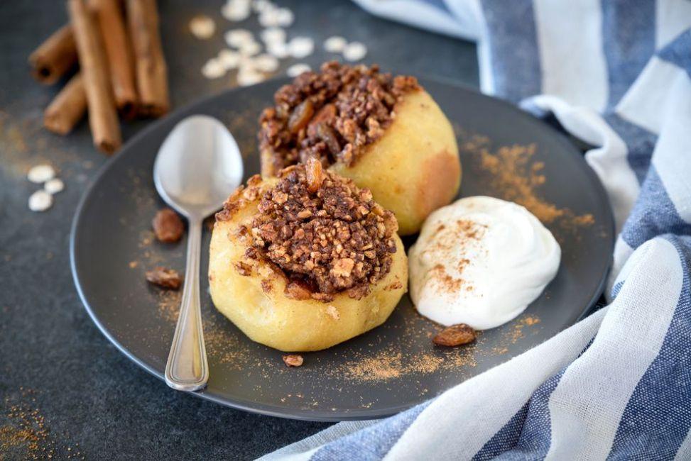 Breakfast Stuffed Apples
