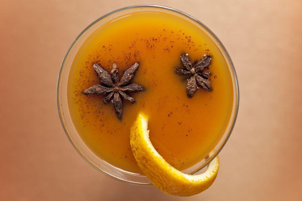 Pumpkin spice cocktail
