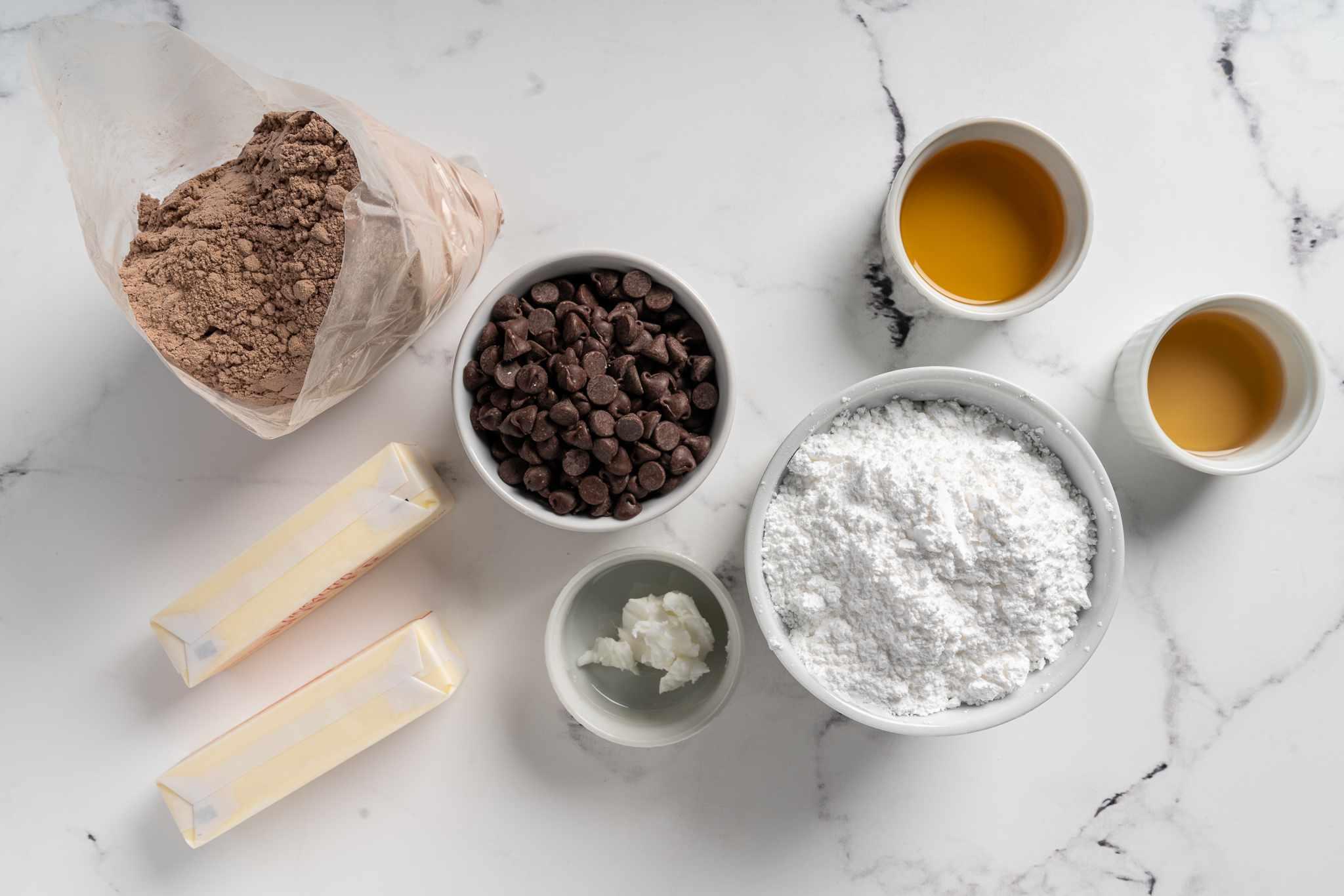 Boozy Brownies ingredients