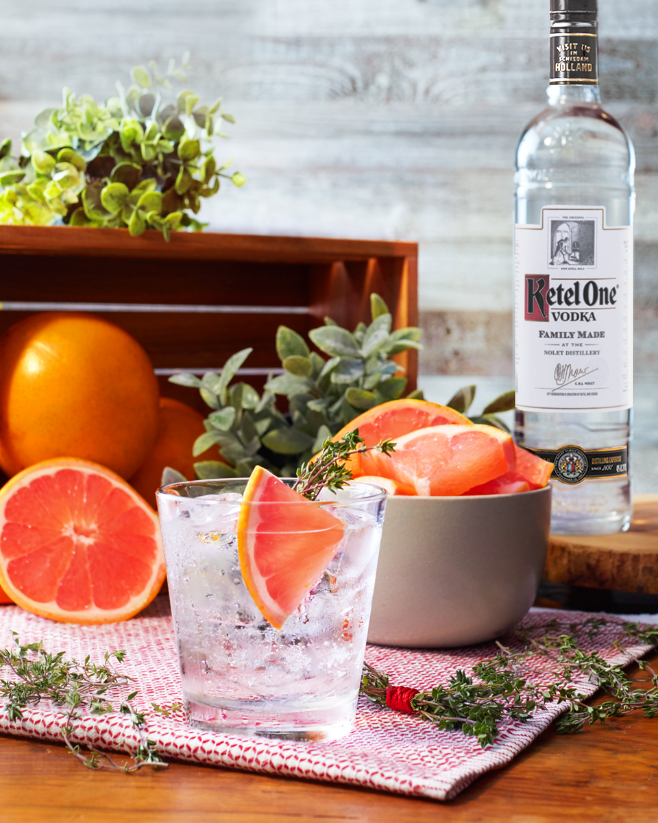 Ketel Soda With Grapefruit and Thyme (New)
