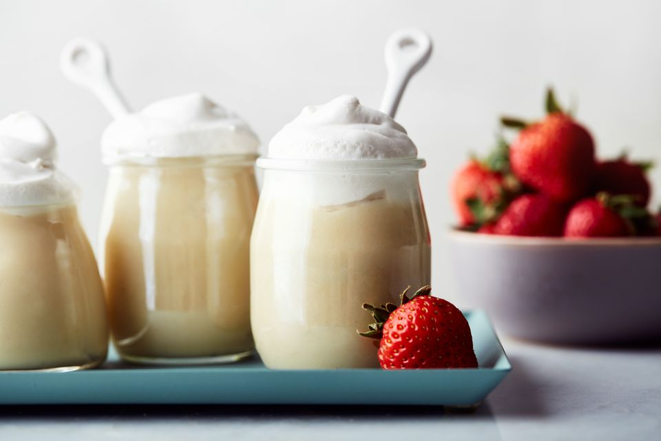Low fat vegan vanilla pudding