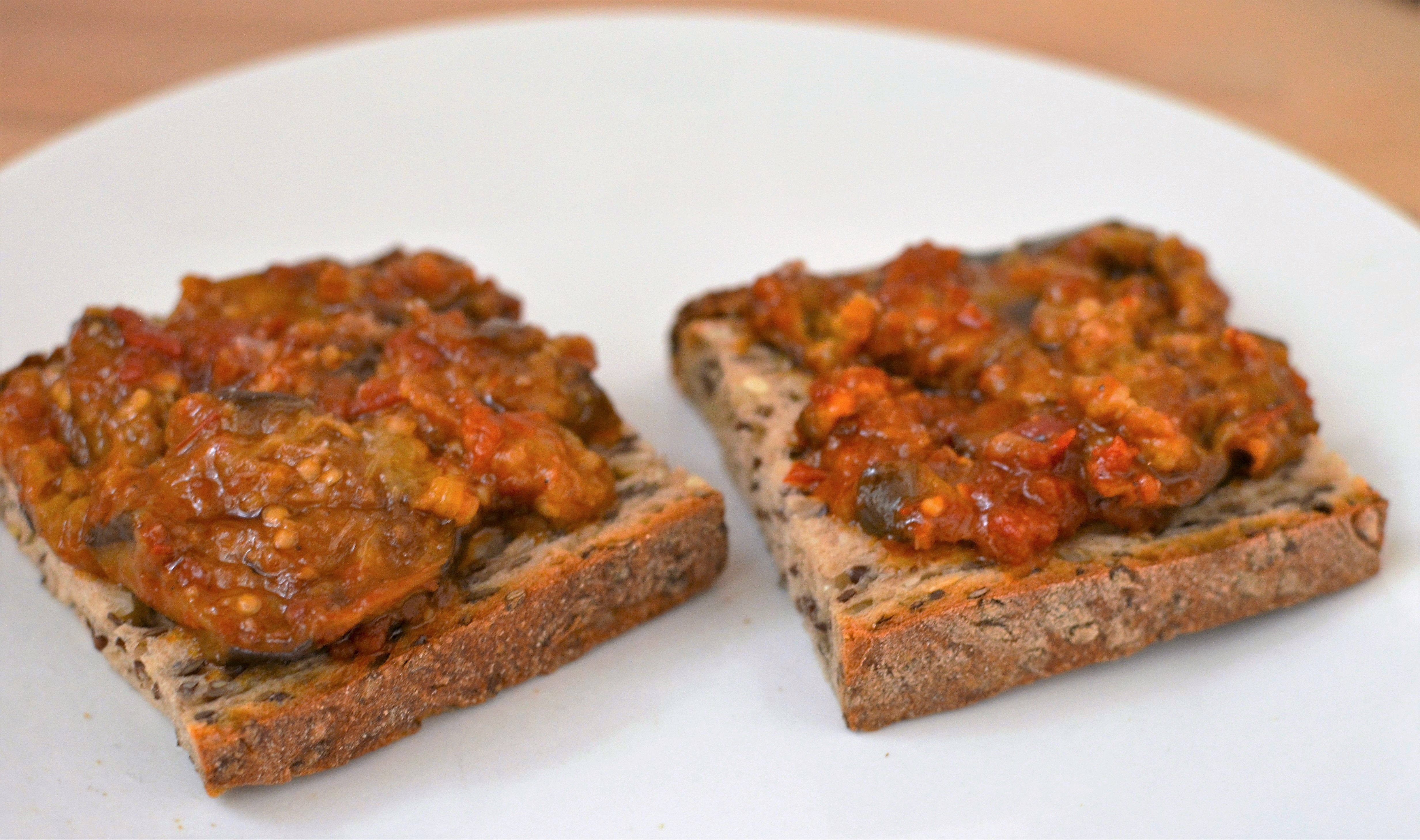 Melanzane fritte (fried eggplant and tomato spread)