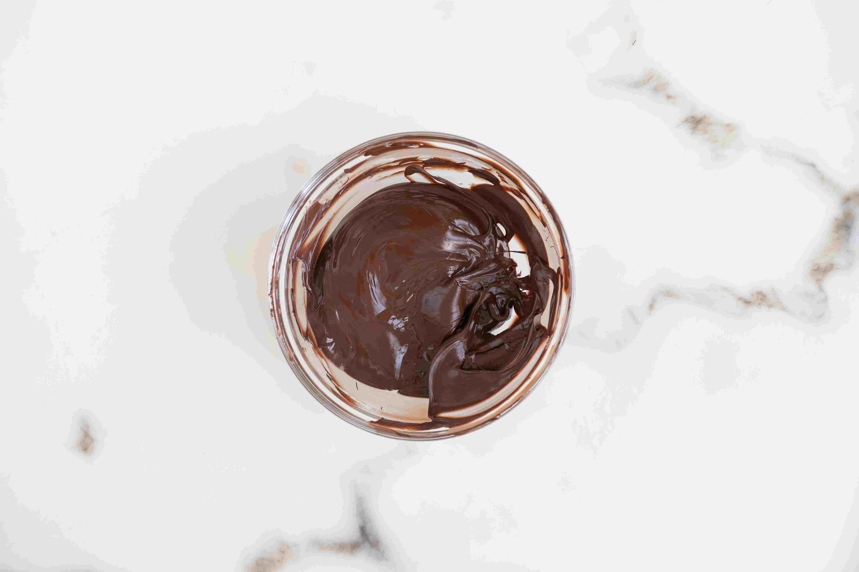 Melt dark chocolate