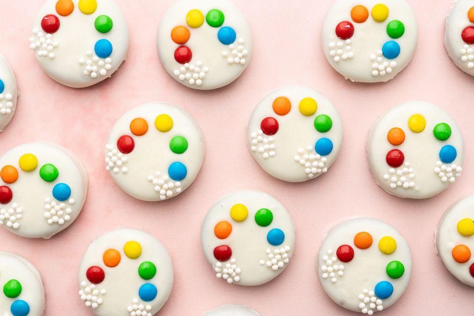 Rainbow Chocolate-Covered Cookies