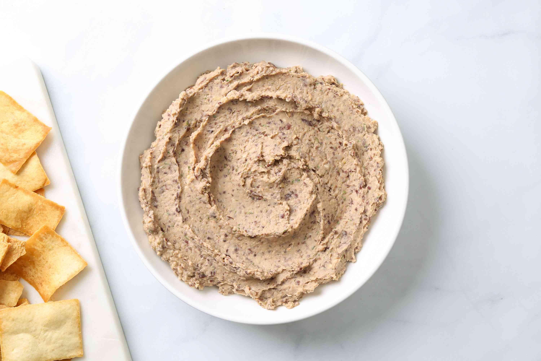 No Tahini Vegan Black Bean Hummus in a bowl