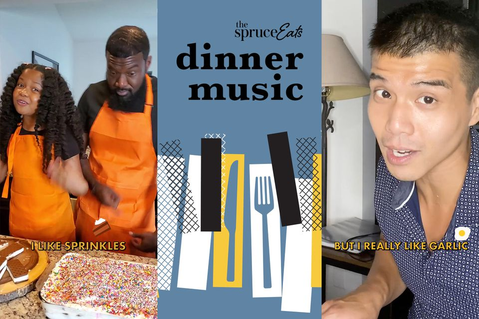 hero image for the spruce eats new social series dinner music