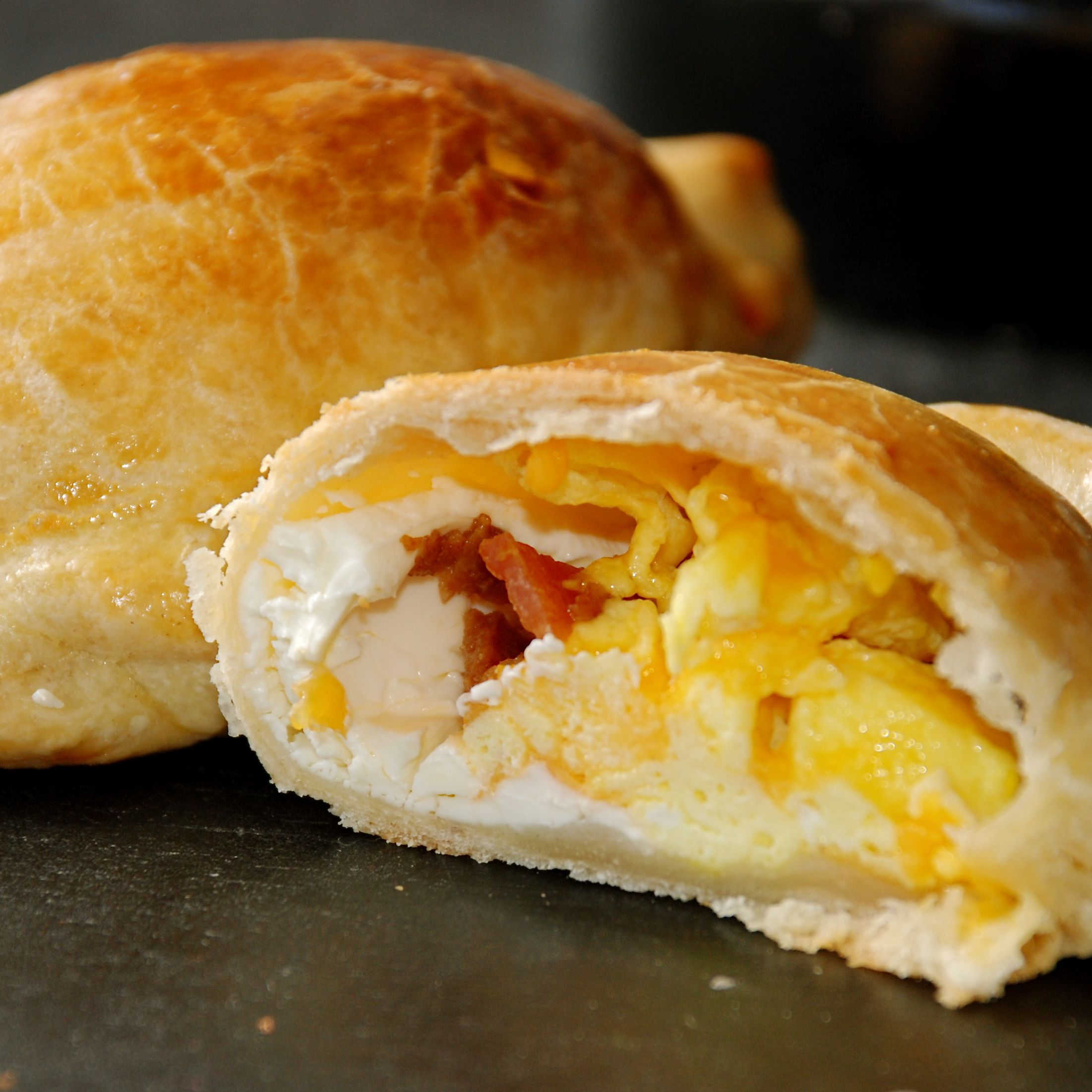 Breakfast Empanadas With Bacon and Eggs