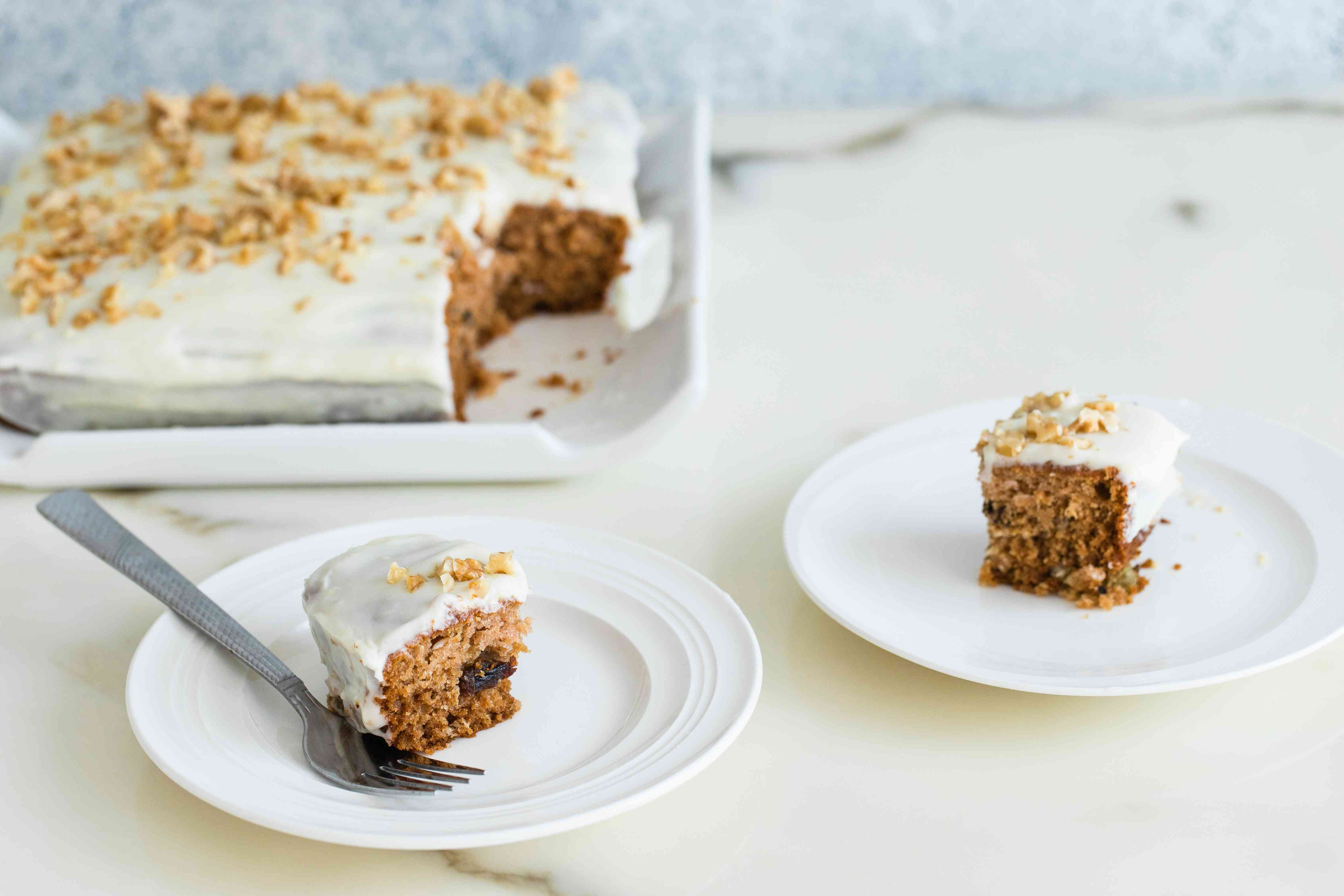 Applesauce cake with cream cheese frosting