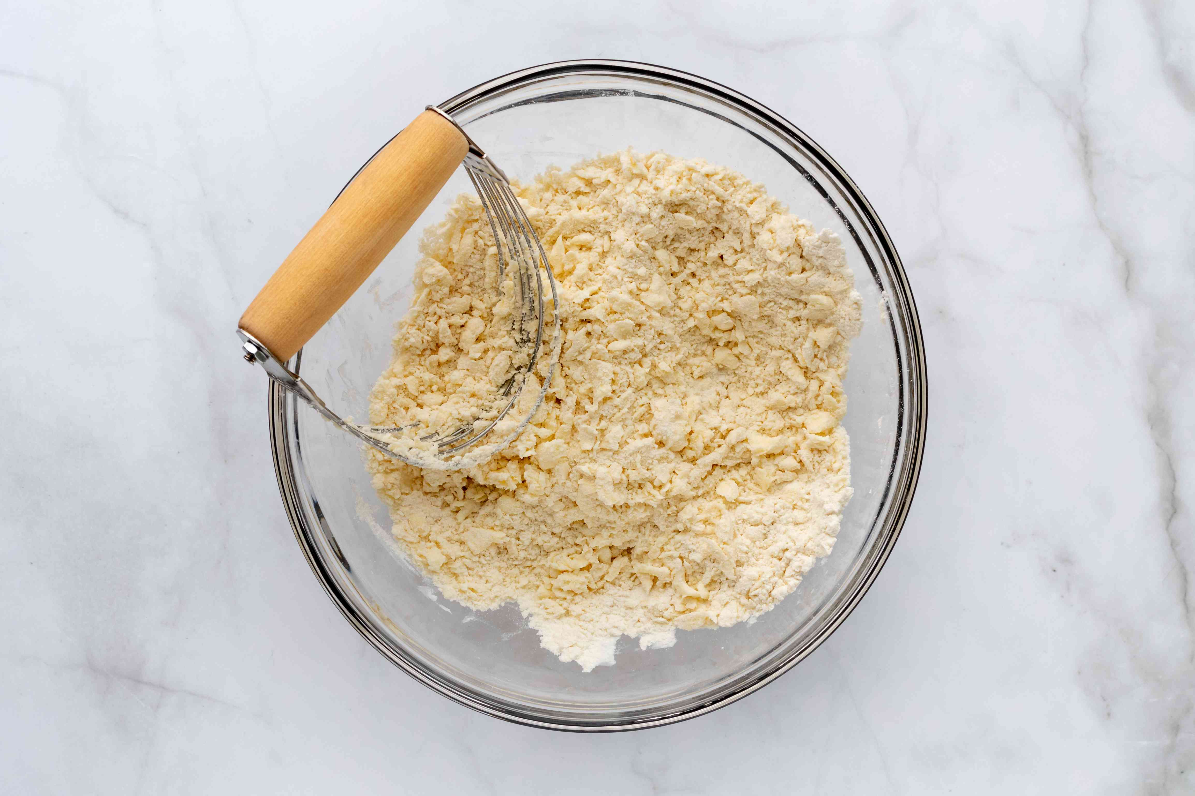 butter and flour mixed with a pastry blender