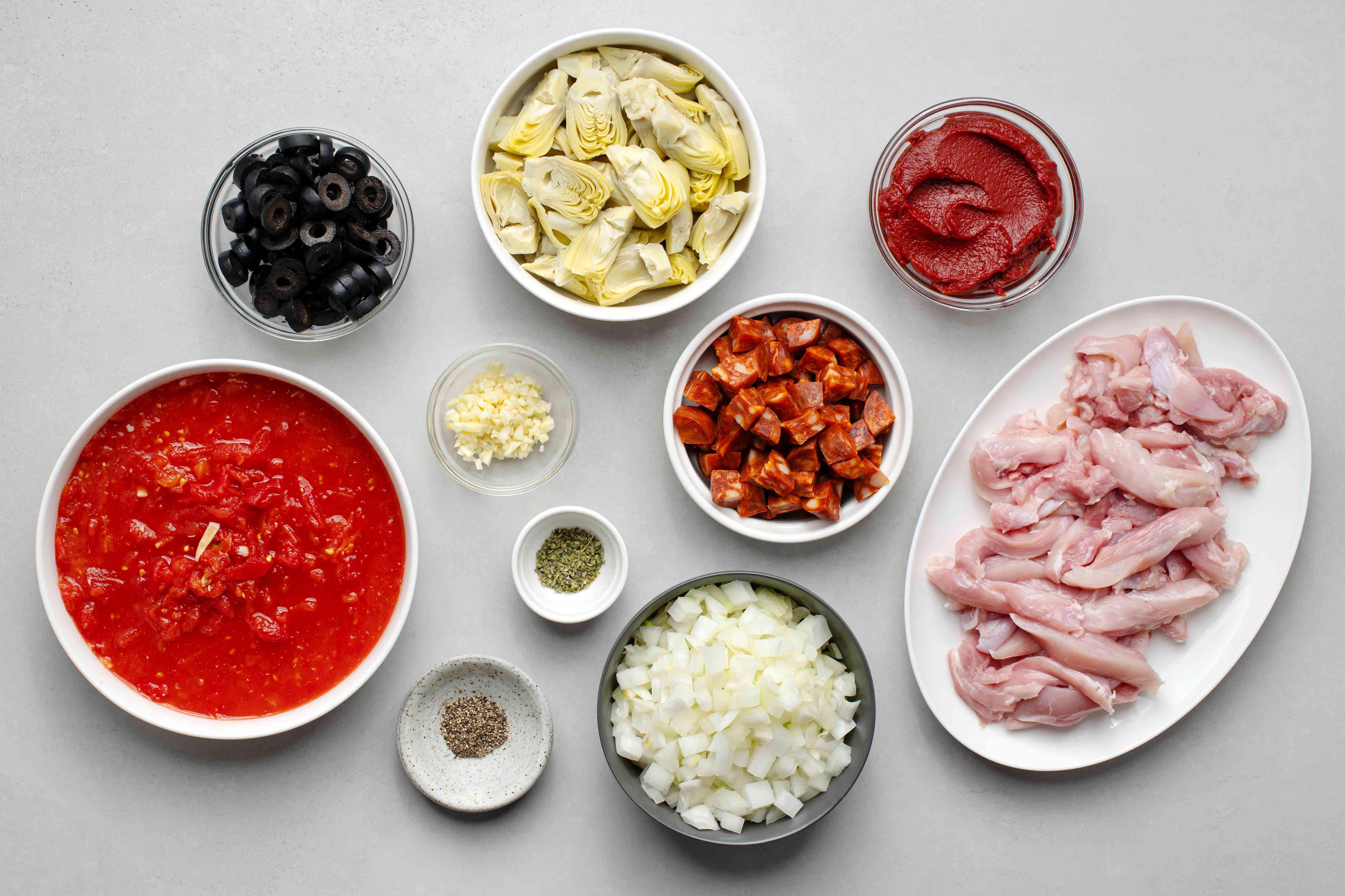 Crock Pot Portuguese Chicken ingredients