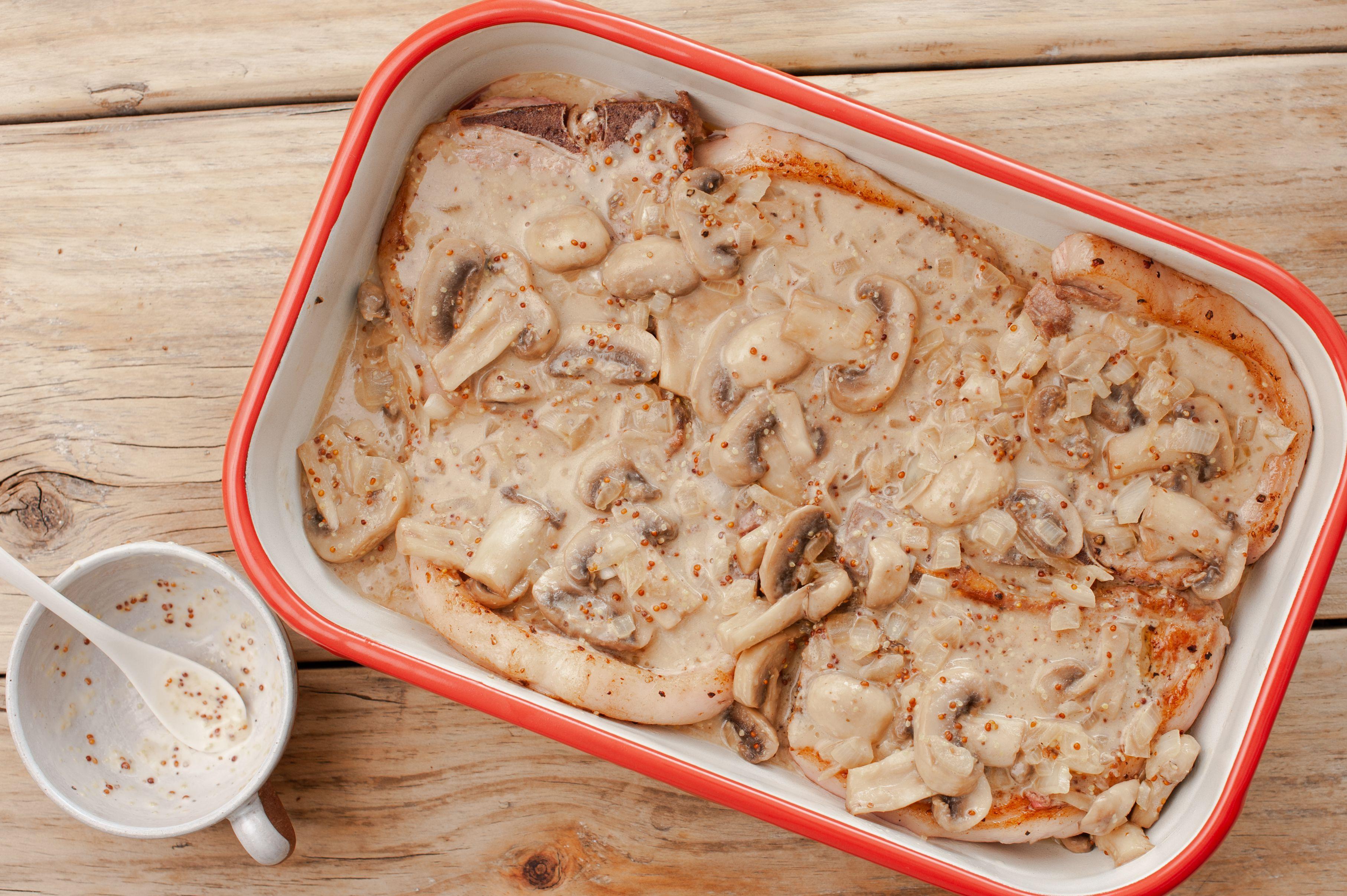 Pour over pork chops