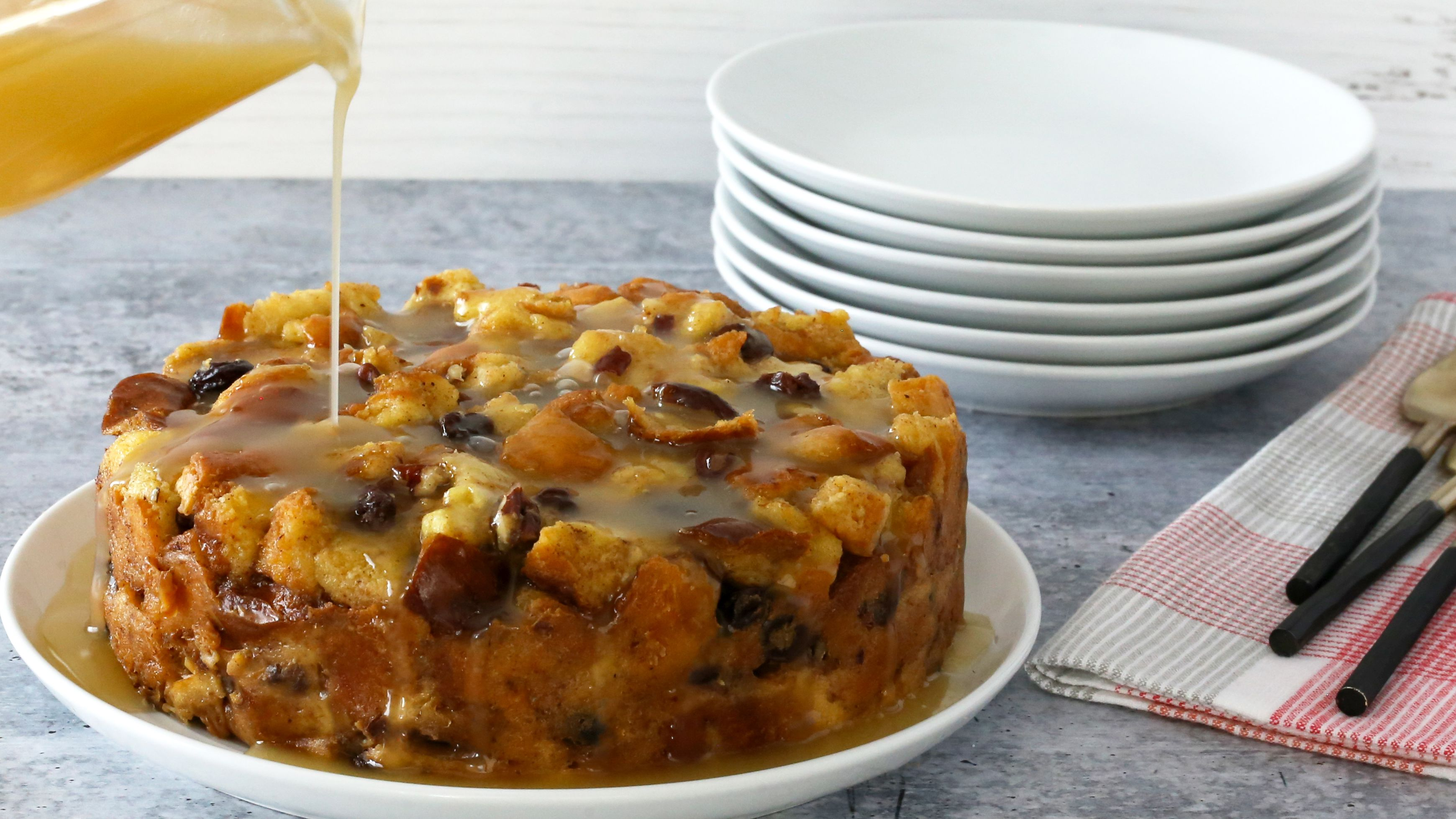 Instant Pot Bread Pudding With Bourbon Sauce