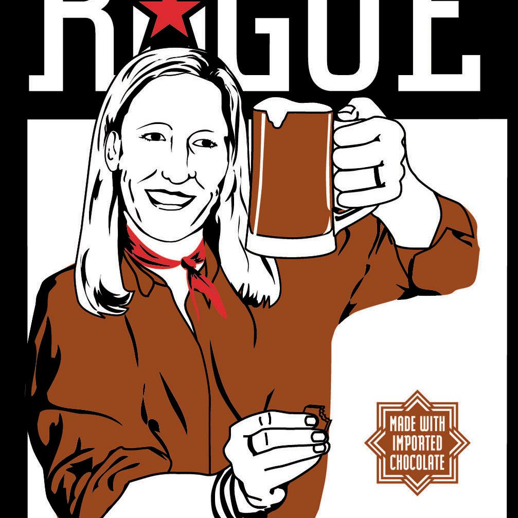 Rogue Chocolate Stout beer label