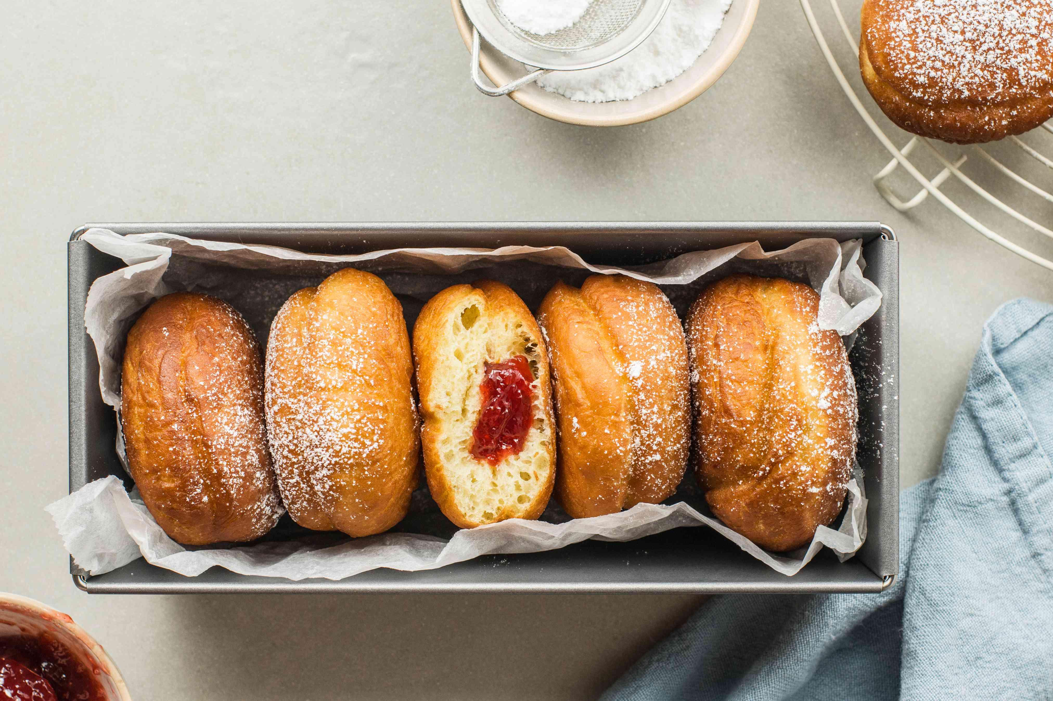 Hanukkah doughnuts sufganiot recipe