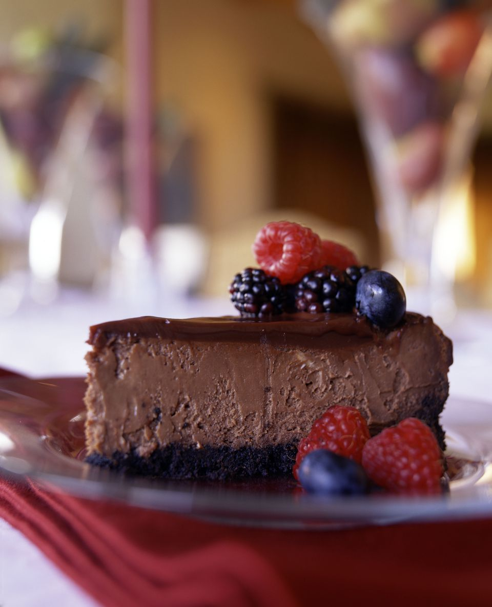 Gluten-Free Irish Cream Chocolate Cheesecake Recipe Image