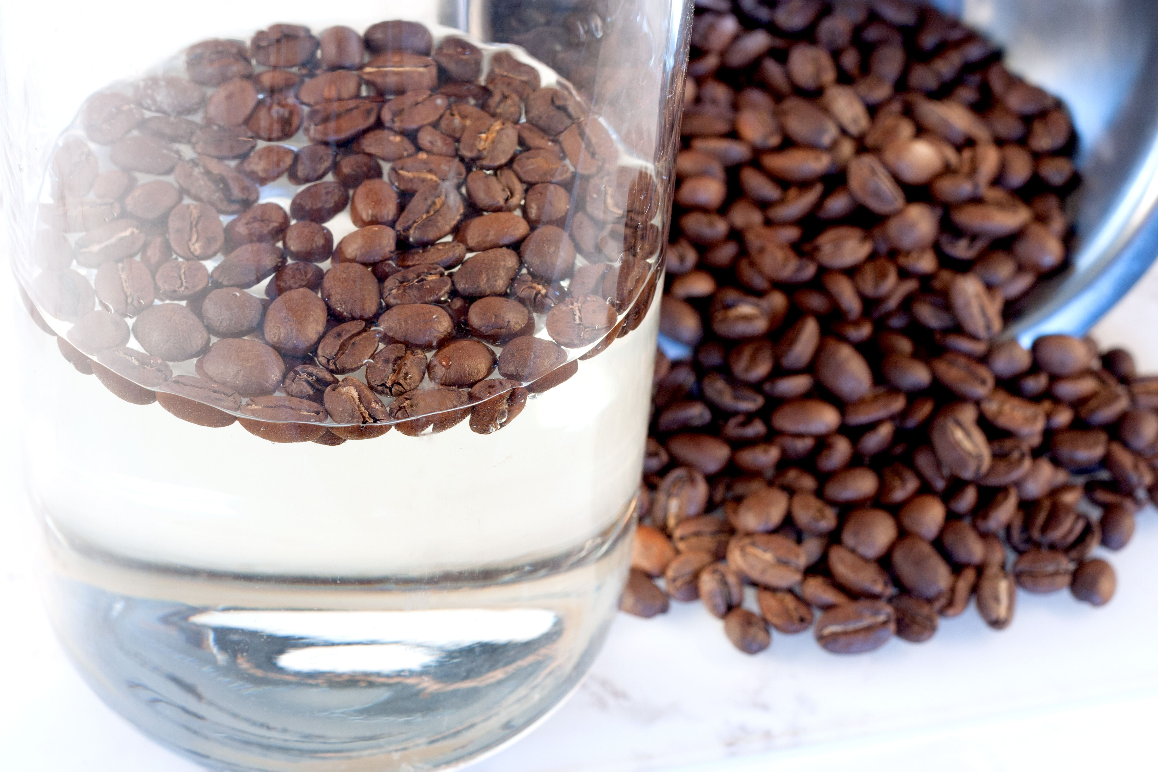 Brewed coffee is simply beans and water
