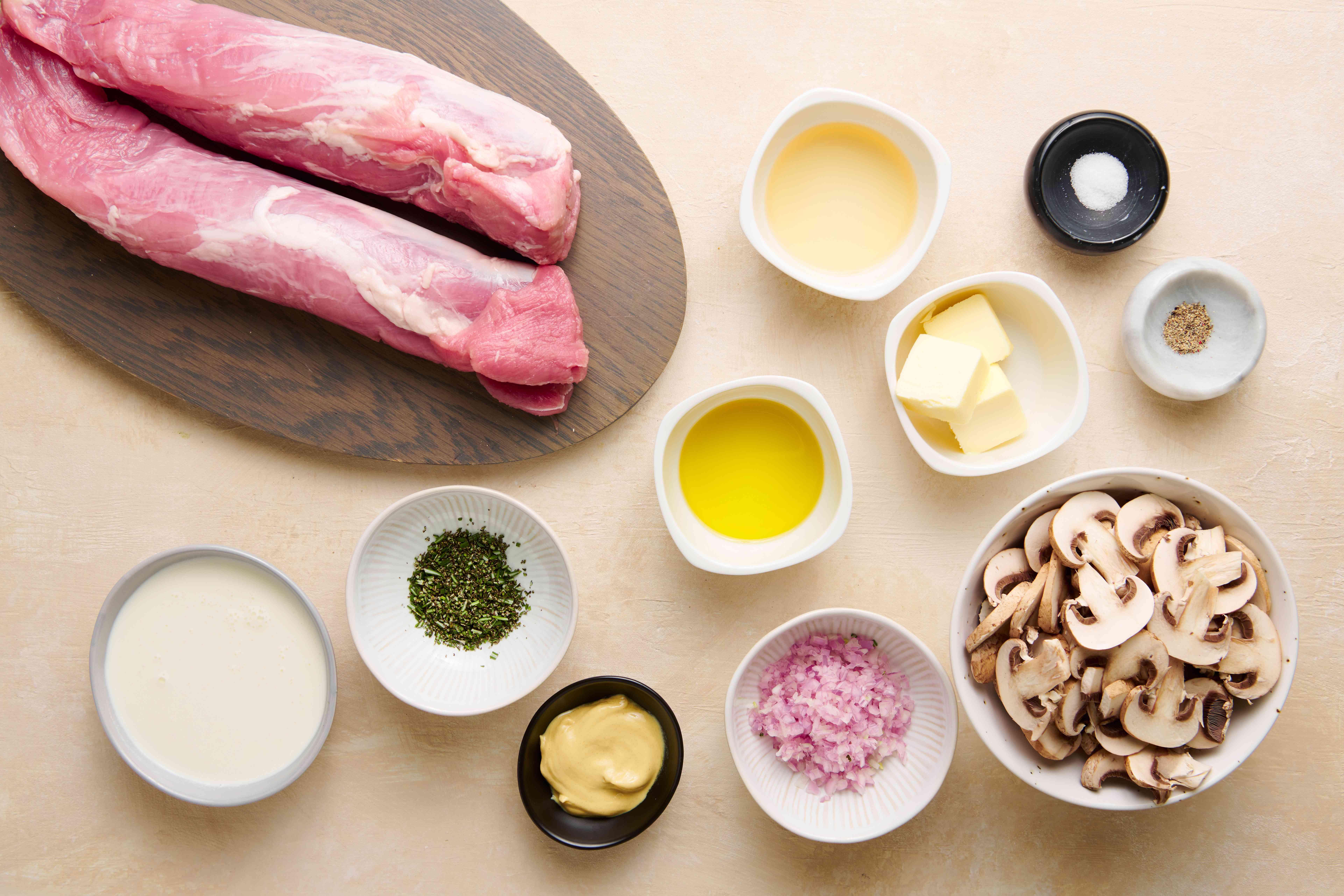 Pork Tenderloin Medallions With Dijon Mushroom Sauce ingredients