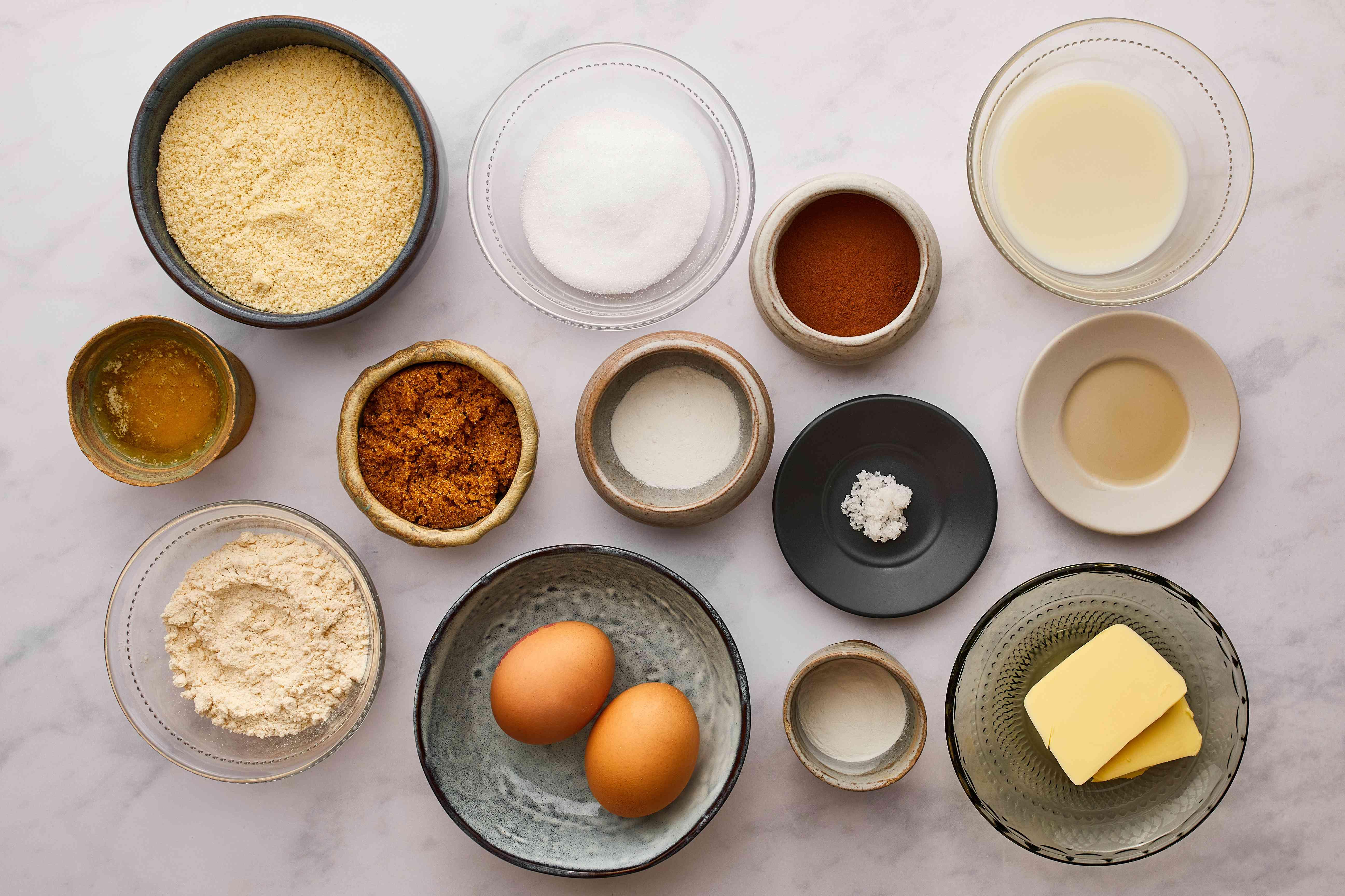 keto cinnamon roll ingredients gathered
