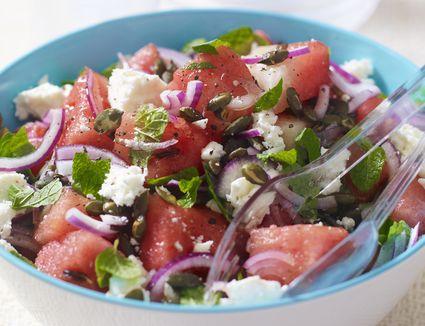 Cool, refreshing watermelon salad