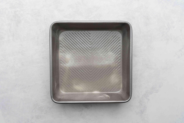 8x8 pan sprayed with non-stick spray