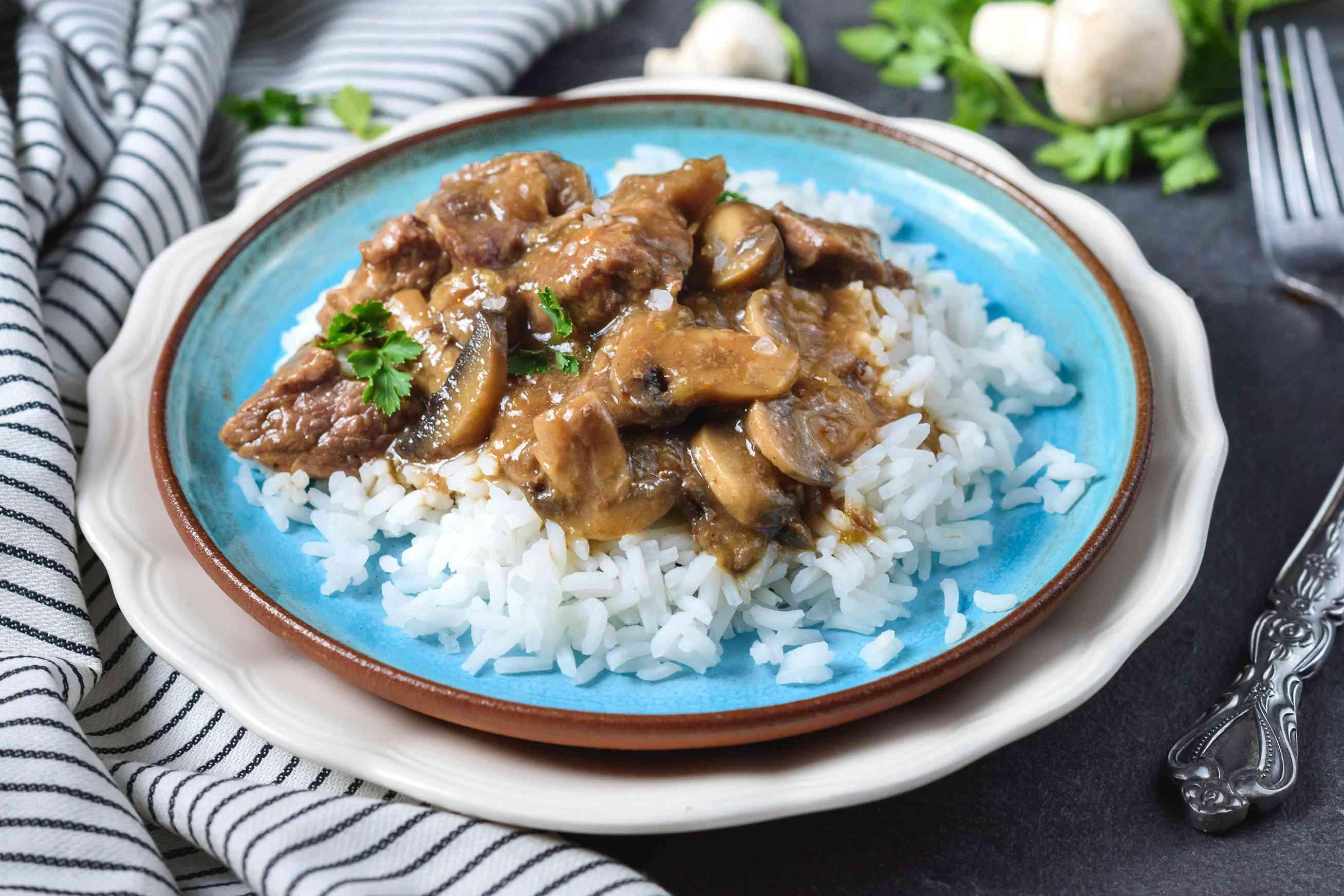 Beef tips with rice crock pot