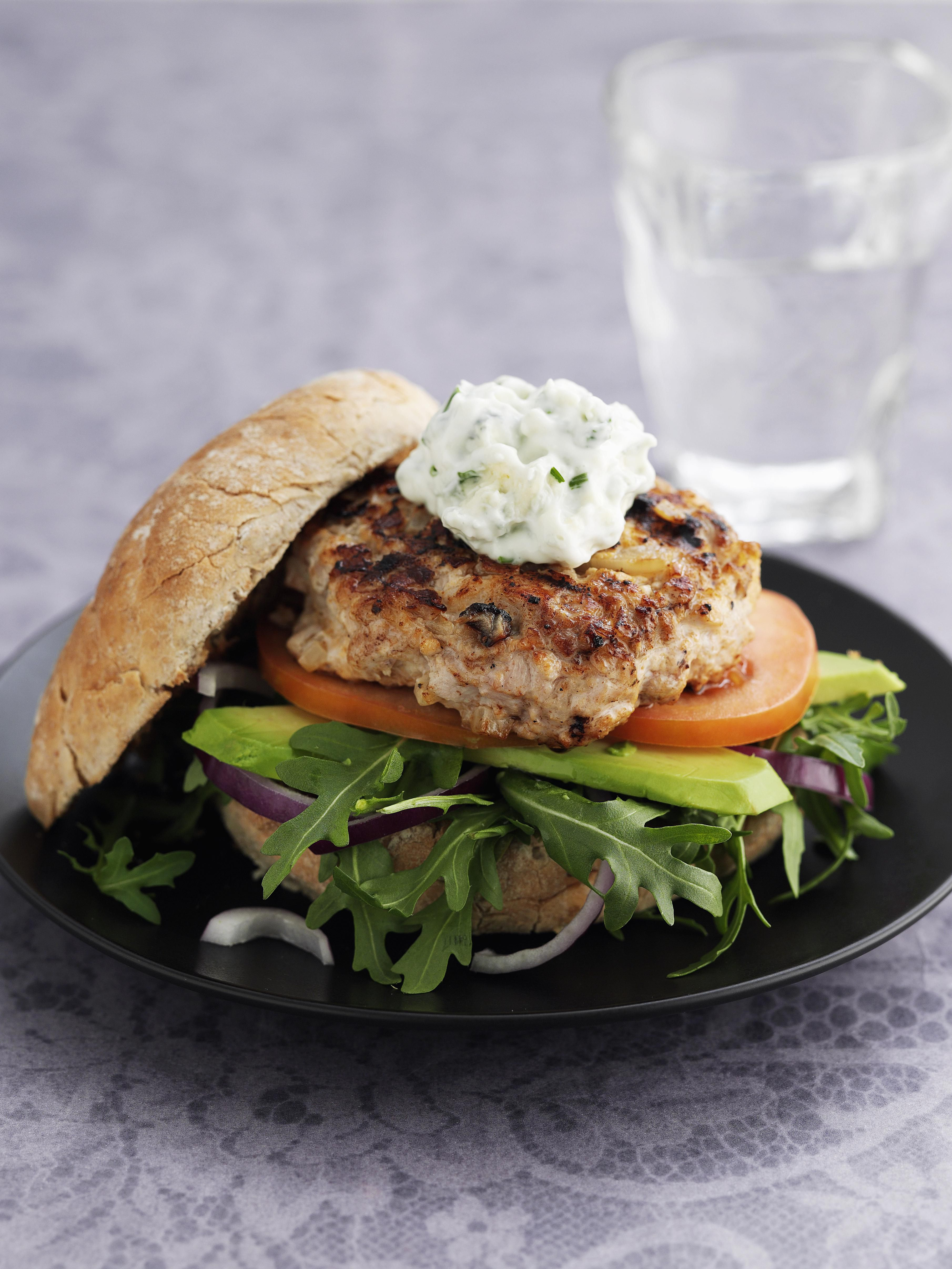Herbed Dill Pickle Chicken Burgers With Tarragon Mayonnaise Recipe