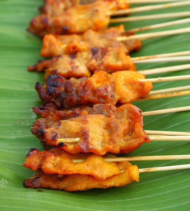 Thai Pork Satay (with Satay Sauce)