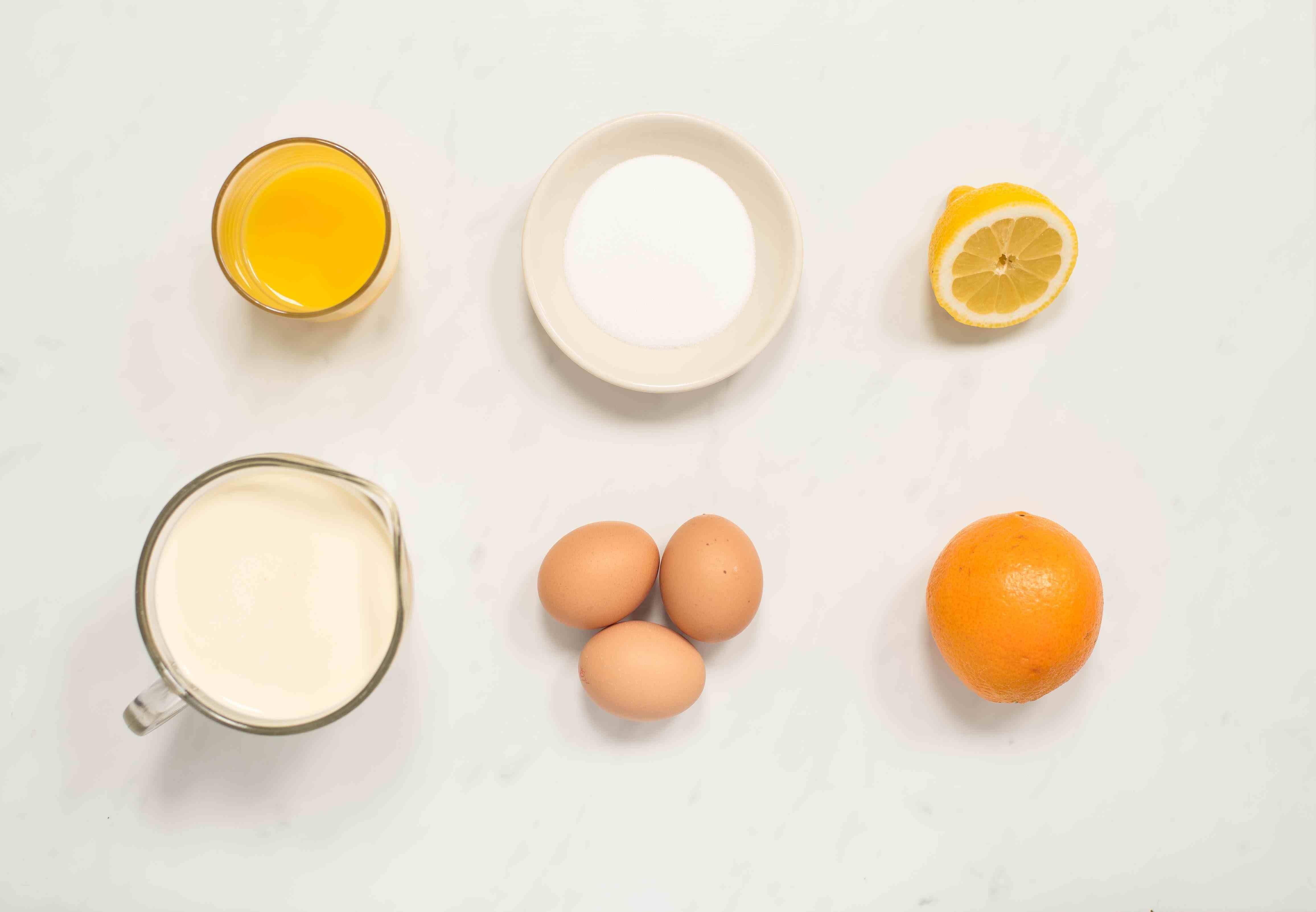 Ingredients for custard