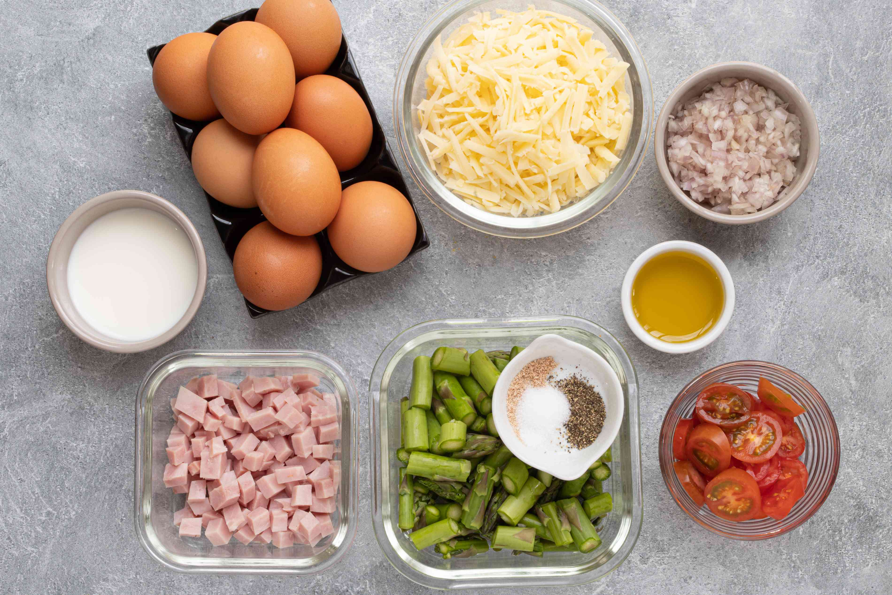 ingredients for a delicious and easy frittata
