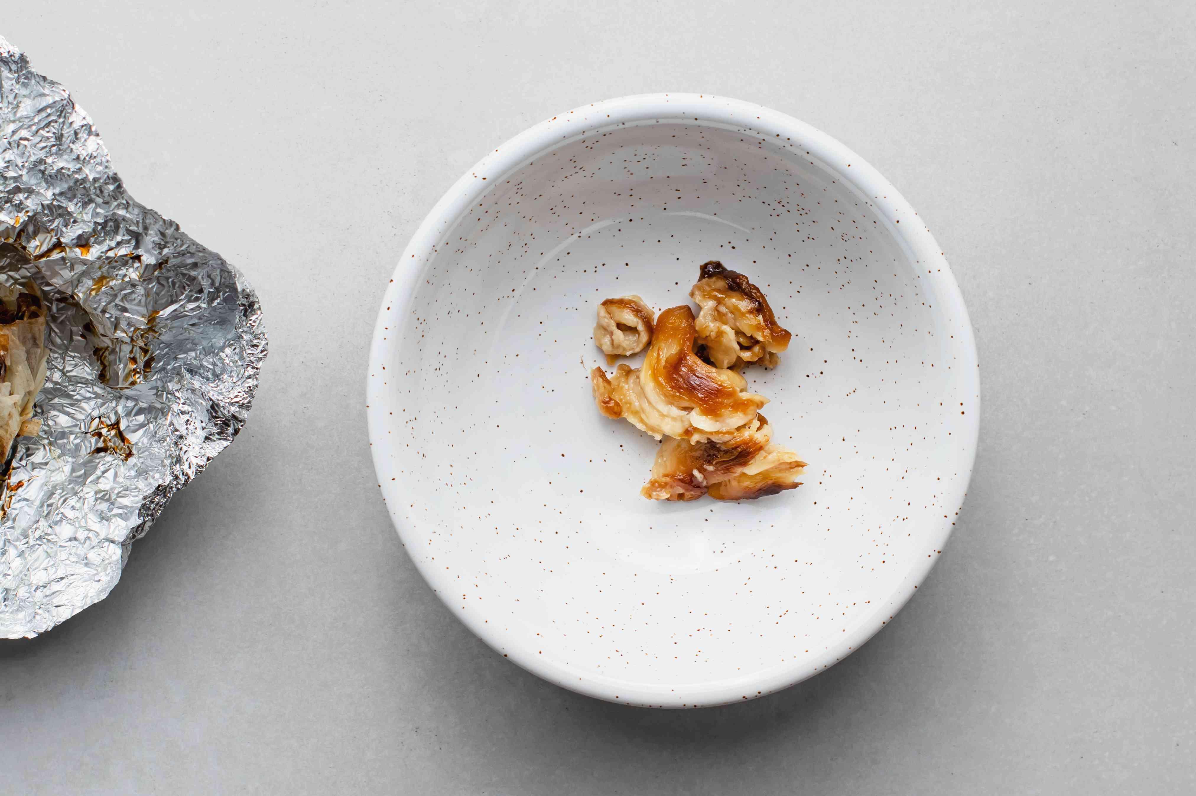 Roasted garlic in a bowl