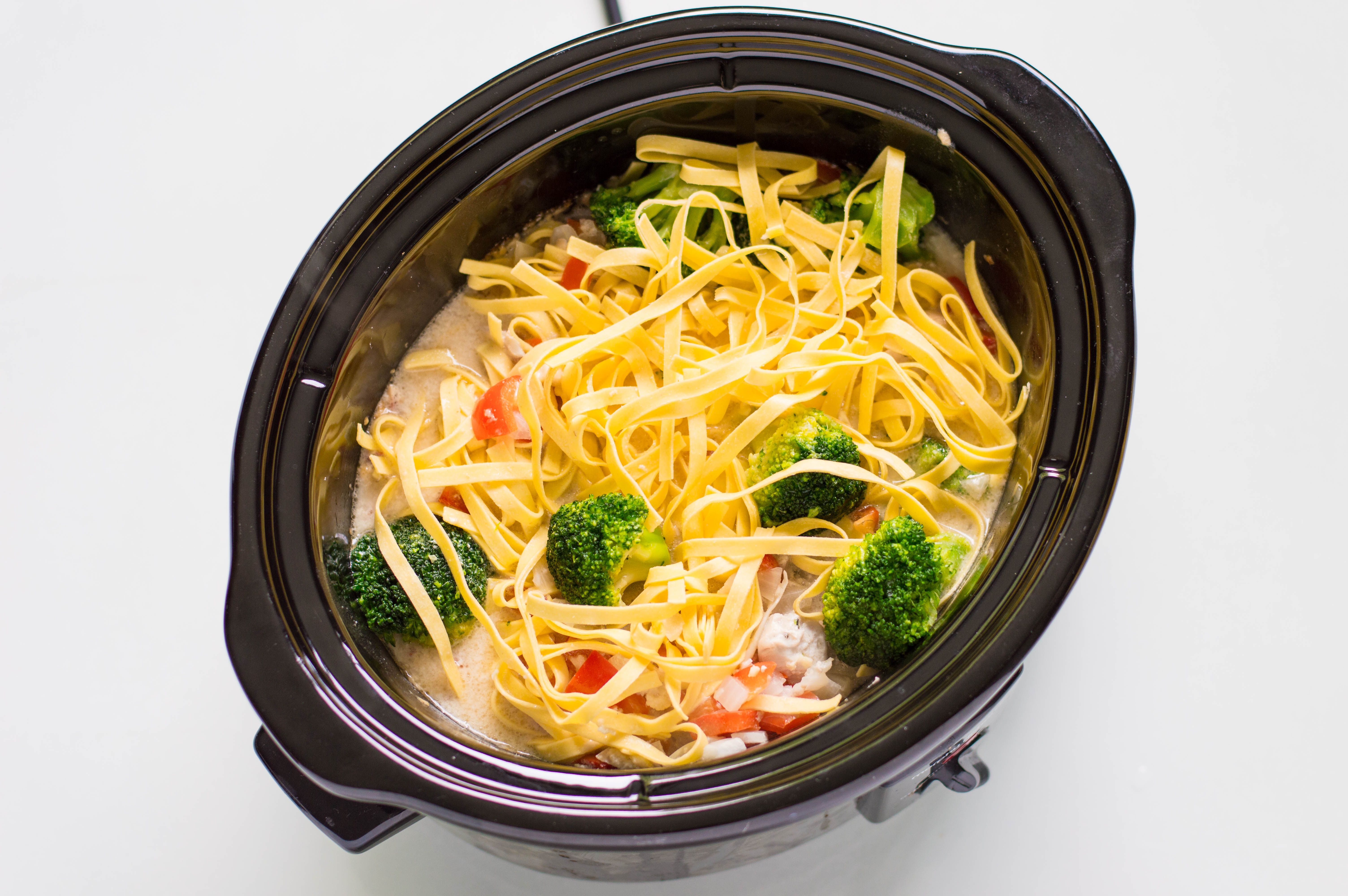 add broccoli and noodles