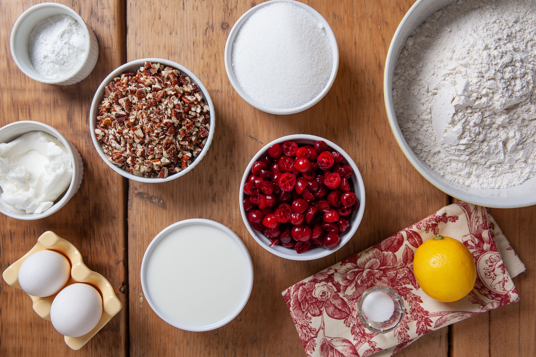 Cranberry Bread ingredients