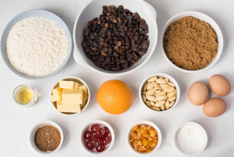 Scottish dundee cake ingredients