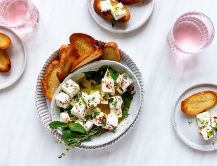 Feta With Olive Oil and Herbs