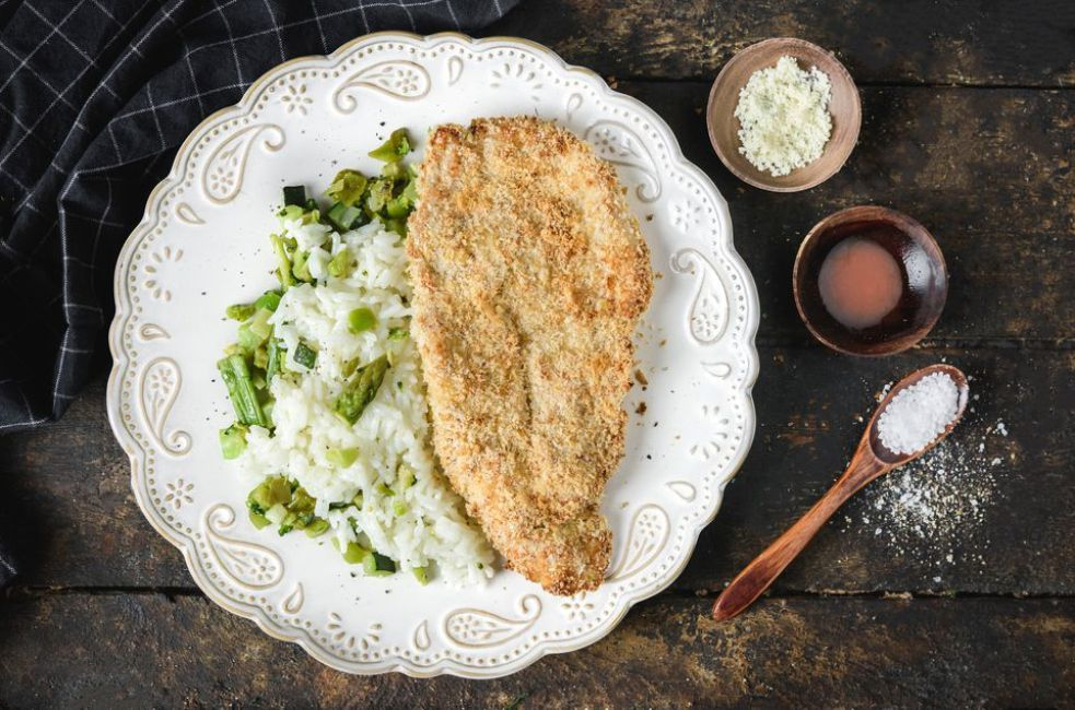 Oven Fried Turkey Cutlets With Parmesan Cheese