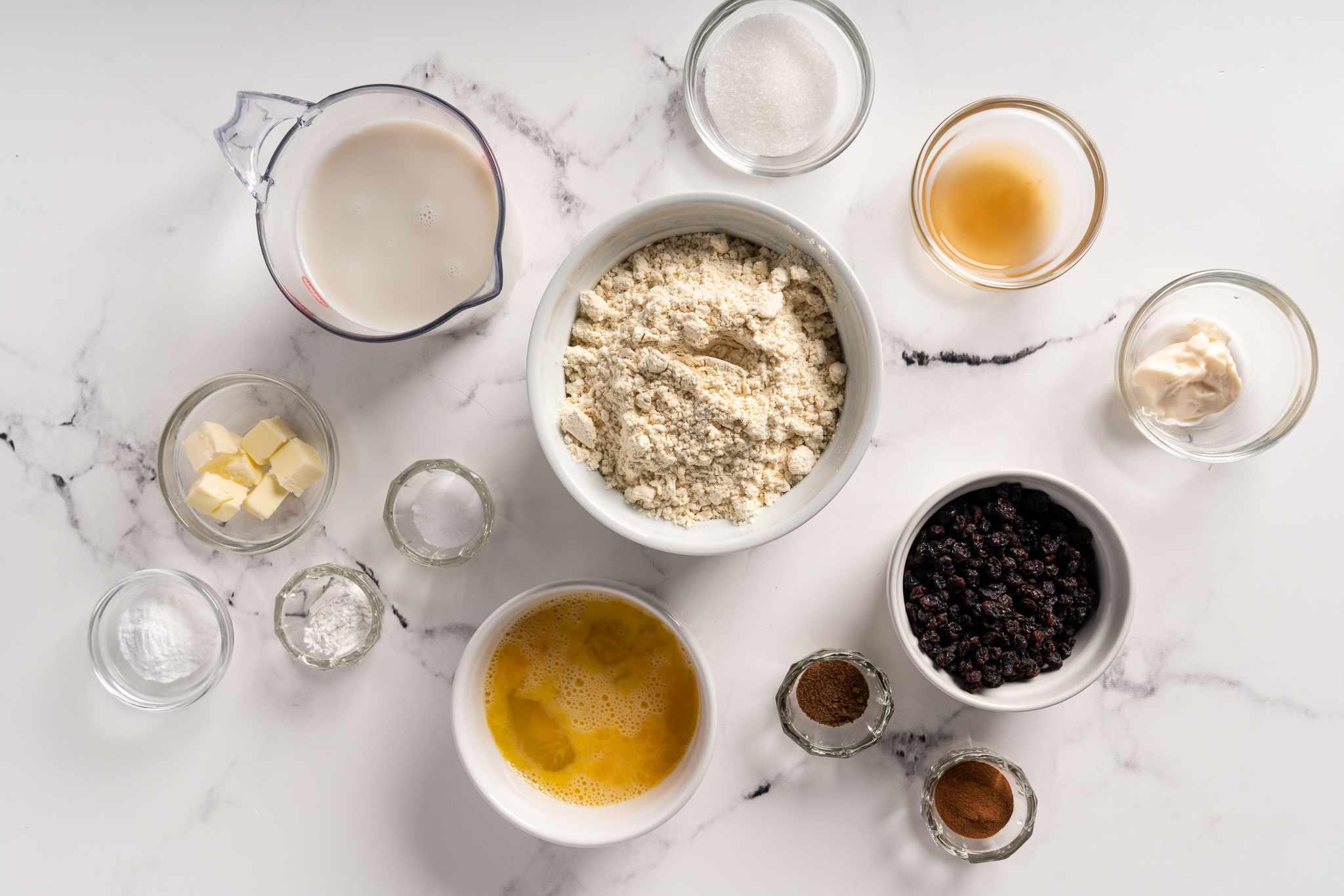 Gluten-Free and Dairy-Free Irish Soda Bread ingredients