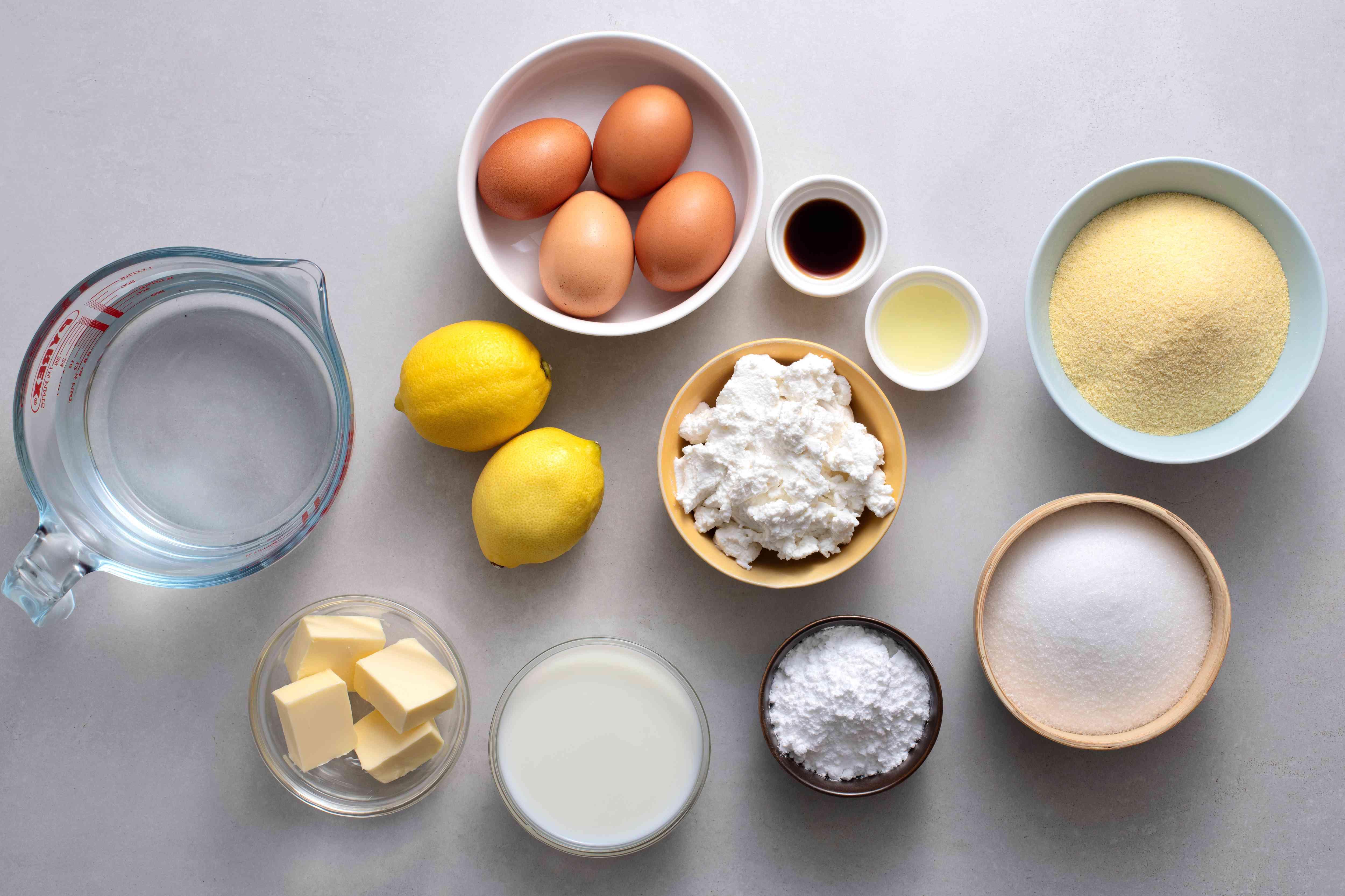 Naples-Style Lemon Ricotta Cake (Migliaccio) ingredients